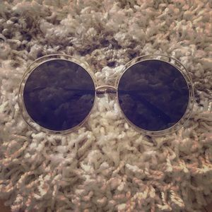 Chloe Carolina Round Wire Metal Sunglasses